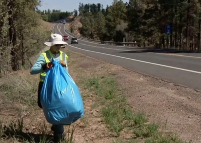 Right of Way Weds. – Littering