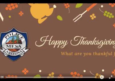 Mesa PD Thanksgiving