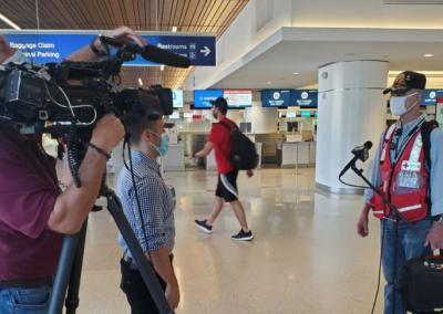 Red Cross Volunteer Leaves for Houston